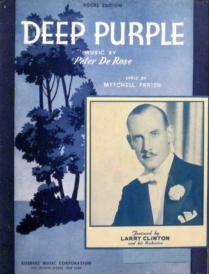 Deep Purple Sheet Music 1939