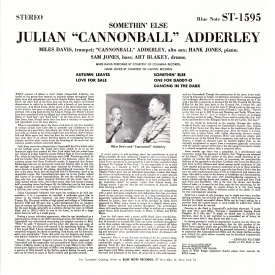 Julian 'Cannonball' Adderley - Somethin' Else (1958) b