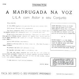Lila - A Madrugada na Voz (1961) b