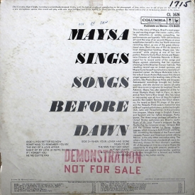 Maysa from - Maysa Sings Songs Before Dawn (1961) b
