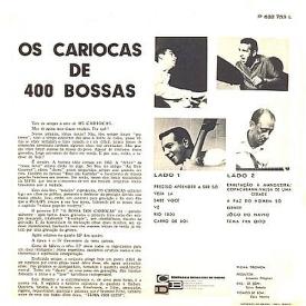 Os Cariocas - Os Cariocas de Quatrocentas Bossas (1965) b