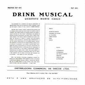 Quarteto Monte Carlo - Drink Musical (1960) b