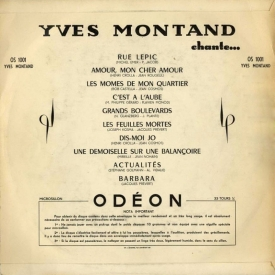 Yves Montand - Yves Montand Chante (1953) b