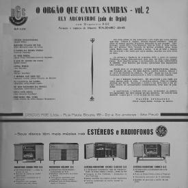 Ely Arcoverde - O Órgão Que Canta Sambas Vol. 2 (1963) b