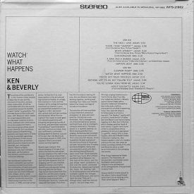 Ken & Beverly - Watch What Happens (1966) b