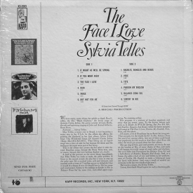 Sylvia Telles - The Face I Love (1966) b