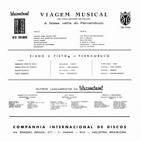 Pernambuco - Viagem Musical – A Bossa Velha de Pernambuco (1960) b
