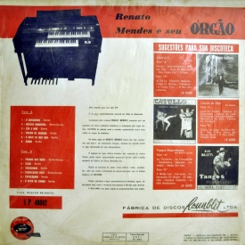 Renato Mendes - Renato Mendes e Seu Órgão (1962) b