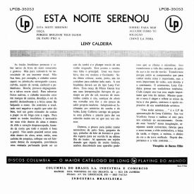 Leny Caldeira - Esta Noite Serenou (1957) b