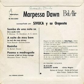 Marpessa Dawn - Marpessa Dawn Acompañada Por Sivuca Y Su Orquesta (1962) b