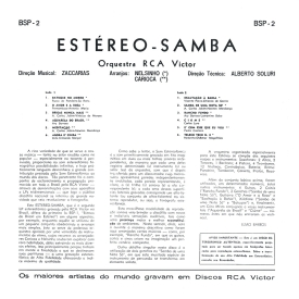 Orquestra RCA Victor - Estéreo Samba (1961) b
