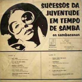 Os Sambacanas - Sucessos da Juventude em Tempo de Samba (1969) b