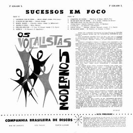Os Vocalistas Modernos - Sucessos em Foco (1959) b