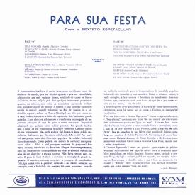 Sexteto Espetacular - Para Sua Festa (1959) b
